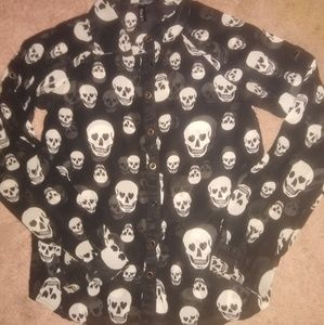 Black and white Halloween blouse